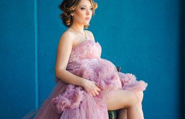 Один из ярких образов в фотосессии беременности.-372
