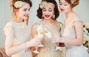 Стильная свадебная фотосессия в стиле 30-х годов.-488