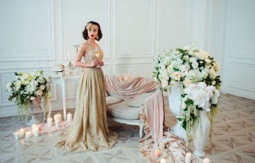 Стильная свадебная фотосессия в стиле 30-х годов.-496
