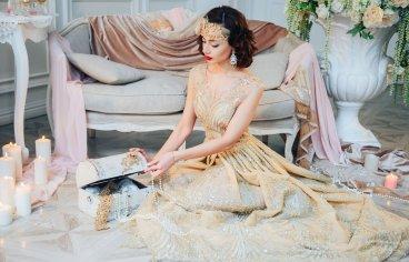 Стильная свадебная фотосессия в стиле 30-х годов.-494
