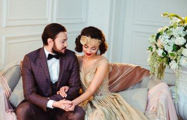 Стильная свадебная фотосессия в стиле 30-х годов.-498