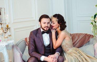 Стильная свадебная фотосессия в стиле 30-х годов.-501