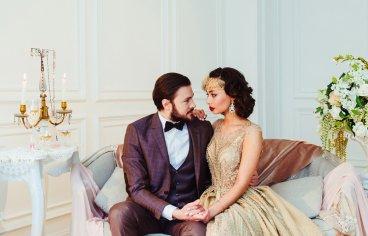 Стильная свадебная фотосессия в стиле 30-х годов.-491