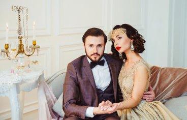 Стильная свадебная фотосессия в стиле 30-х годов.-490