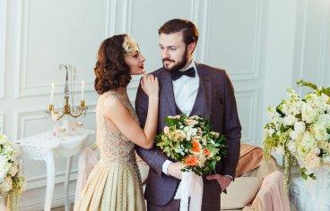 Стильная свадебная фотосессия в стиле 30-х годов.-506