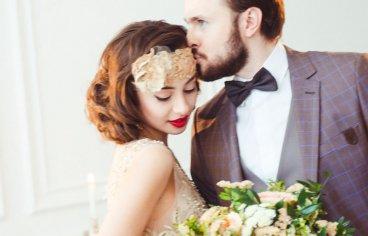 Стильная свадебная фотосессия в стиле 30-х годов.-499