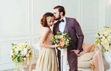 Стильная свадебная фотосессия в стиле 30-х годов.-489
