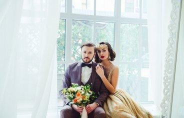 Стильная свадебная фотосессия в стиле 30-х годов.-504