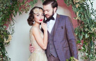 Стильная свадебная фотосессия в стиле 30-х годов.-508