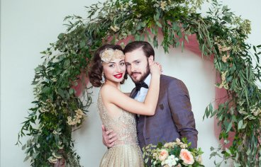 Стильная свадебная фотосессия в стиле 30-х годов.-511