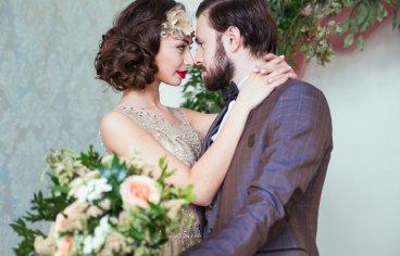 Стильная свадебная фотосессия в стиле 30-х годов.-509