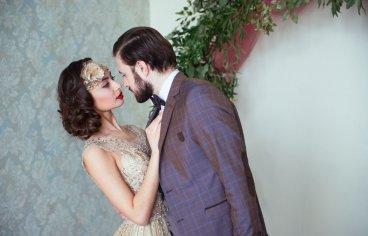 Стильная свадебная фотосессия в стиле 30-х годов.-512
