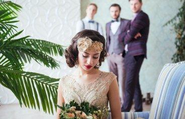 Стильная свадебная фотосессия в стиле 30-х годов.-515