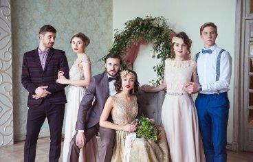 Стильная свадебная фотосессия в стиле 30-х годов.-517