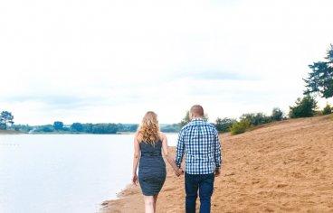 Петя и Женя на песчаном карьере, когда море любви и нежности внутри (фотосессия беременности)-614
