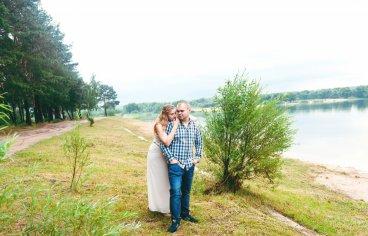 Петя и Женя на песчаном карьере, когда море любви и нежности внутри (фотосессия беременности)-628